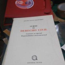 Diccionarios de segunda mano: ANTONIO GULLON BALLESTEROS CURSO DE DERECHO CIVIL CONTRATOS EN ESPECIAL RESPONSABILIDAD EXCONTRACTUA. Lote 202355383