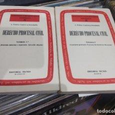 Diccionarios de segunda mano: J. PRIETO CASTRO Y FERRANDIZ 1973 DERECHO PROCESAL CIVIL VOLIMEN 2 Y 2. Lote 202357786