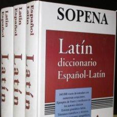 Diccionarios de segunda mano: DICCIONARIO ESPAÑOL LATINO 3 TOMOS (COMPLETO) - AGUSTÍN BLÁNQUEZ. Lote 203037540