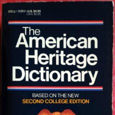 Diccionarios de segunda mano: THE AMERICAN HERITAGE DICTIONARY OF THE ENGLISH LANGUAGE. Lote 203519197
