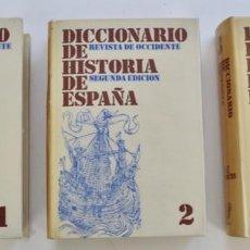 Diccionarios de segunda mano: DICCIONARIO DE HISTORIA DE ESPAÑA. TRES TOMOS. REVISTA DE OCCIDENTE. 2ª EDICIÓN. 1968. Lote 203826906