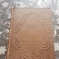Diccionarios de segunda mano: GRAN DICCIONARIO CUYAS INGLÉS -ESPAÑOL 1952. Lote 204821915