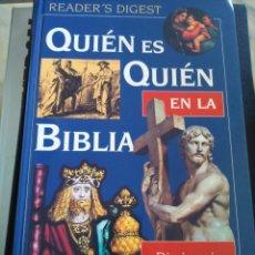 Diccionarios de segunda mano: QUIEN ES QUIEN EN LA BIBLIA -- DICCIONARIO BIOGRAFICO ILUSTRADO -- READER,S DIGEST 1996 --. Lote 205258537