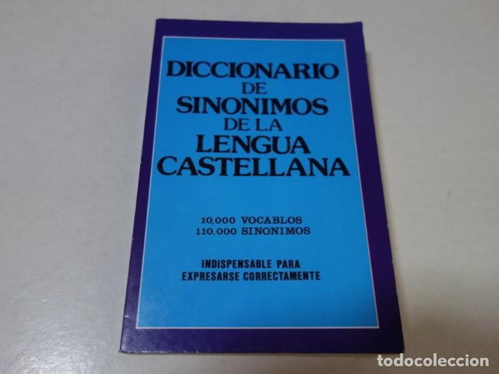 DICCONARIO DE SINÓNIMOS DE LA LENGUA CASTELLANA. 10.000 VOCABLES. 110.000 SINÓNIMOS. (Libros de Segunda Mano - Diccionarios)