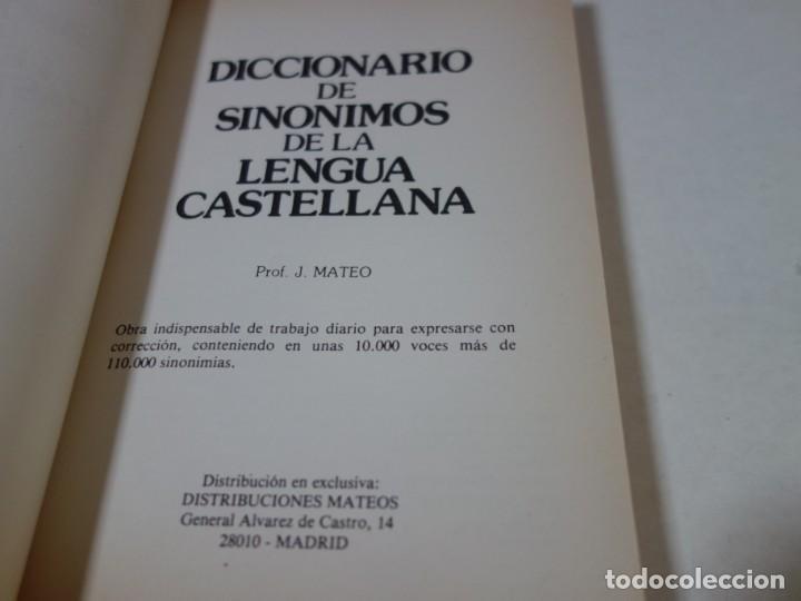 Diccionarios de segunda mano: DICCONARIO DE SINÓNIMOS DE LA LENGUA CASTELLANA. 10.000 VOCABLES. 110.000 SINÓNIMOS. - Foto 2 - 205332851
