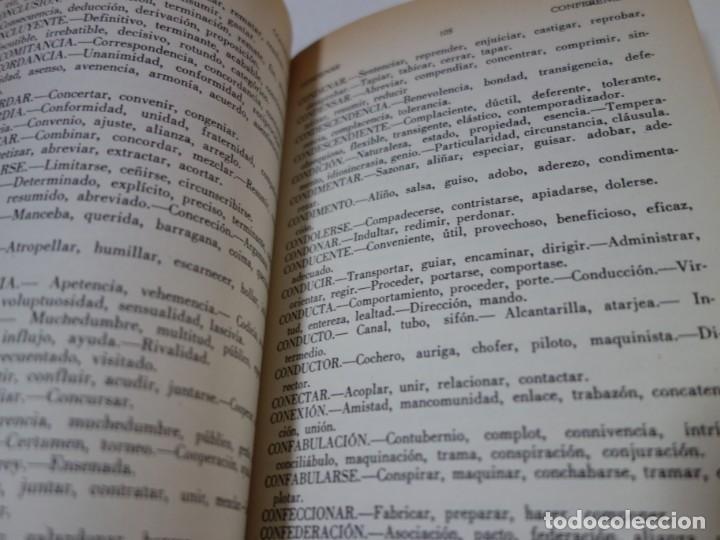 Diccionarios de segunda mano: DICCONARIO DE SINÓNIMOS DE LA LENGUA CASTELLANA. 10.000 VOCABLES. 110.000 SINÓNIMOS. - Foto 3 - 205332851