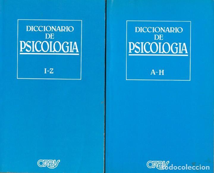 DICCIONARIO DE PSICOLOGIA, 2 TOMOS (Libros de Segunda Mano - Diccionarios)