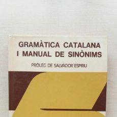 Diccionarios de segunda mano: GRAMÀTICA CATALANA I MANUAL DE SINÒNIMS. VOX BIBLOGRAF, 1977. CATALÁN.. Lote 206776197