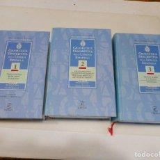 Diccionarios de segunda mano: VV.AA GRAMÁTICA DESCRIPTIVA DE LA LENGUA ESPAÑOLA (3 TOMOS) Q878W. Lote 207071838