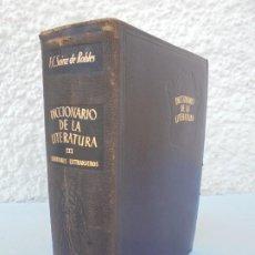 Diccionarios de segunda mano: DICCIONARIO DE LA LITERATURA. T-III. ESCRITORES EXTRANJEROS. F.C. SAINZ DE ROBLES. AGUILAR 1950. Lote 207213615