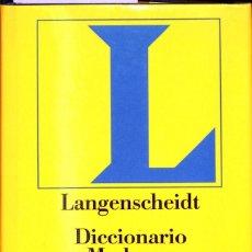 Diccionarios de segunda mano: LANGENSCHEIDT DICCIONARIO MODERNO ALEMÁN-ESPAÑOL ESPAÑOL ALEMÁN. Lote 207284150