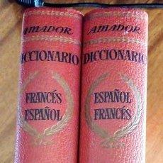 Diccionarios de segunda mano: DICCIONARIOS FRANCÉS-ESPAÑOL Y ESPAÑOL-FRANCÉS. E.MARTÍNEZ AMADOR. SOPENA 1.964. Lote 207752182