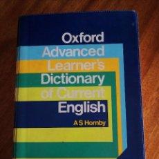 Diccionarios de segunda mano: OXFORD ADVANCED LEARNER'S DICTIONARY AS HORNBY. 1.987. Lote 207858771