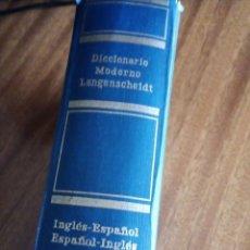Diccionarios de segunda mano: DICCIONARIO MODERNO LANGENSCHEIDT INGLÉS-ESPAÑOL 1.979. Lote 207958117