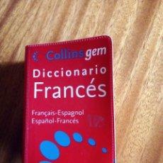 Diccionarios de segunda mano: COLLINS GEM DICCIONARIO FRANCÉS 2.008 FORMATO BOLSILLO. Lote 207959420