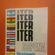 Livros em segunda mão: ITER SOPENA. DICCIONARIO ILUSTRADO DE LA LENGUA ESPAÑOLA. EDITORIAL RAMON SOPENA. Lote 207964726