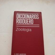 Diccionarios de segunda mano: DICCIONARIOS RIODUERO - ZOOLOGÍA - EDITORIAL RIODUERO 1979. Lote 209106650