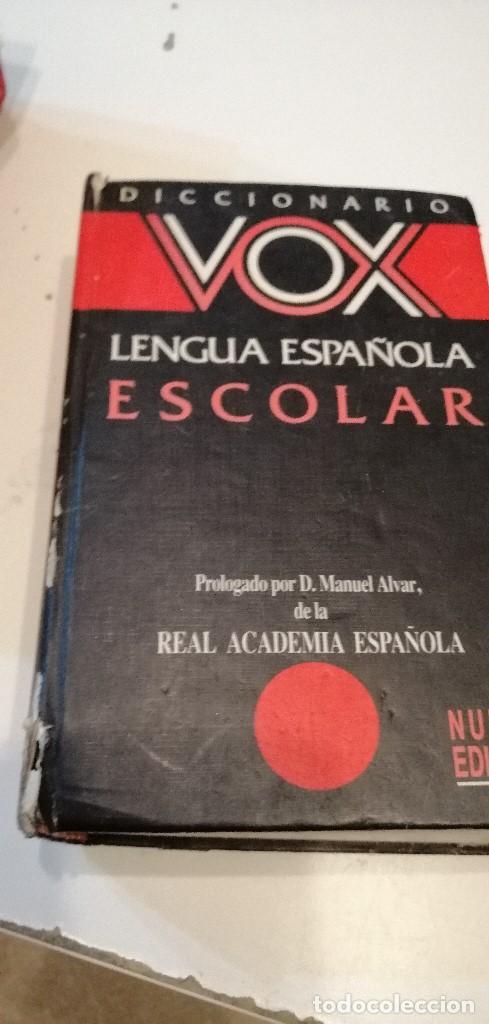 G-9 DICCIONARIO VOX LENGUA ESPAÑOLA ESCOLAR (Libros de Segunda Mano - Diccionarios)