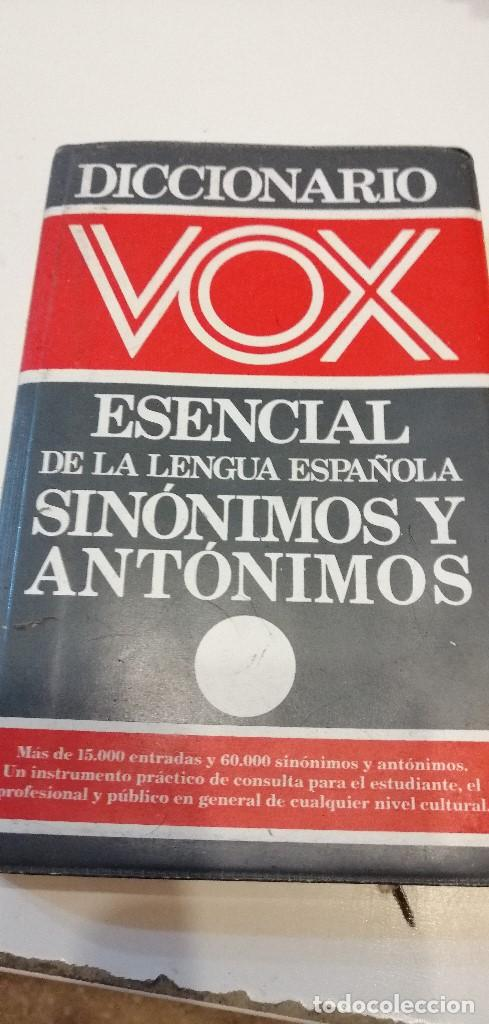 G-9 DICCIONARIO VOX ESENCIAL SINONIMOS Y ANTONIMOS DE LA LENGUA ESPAÑOLA (Libros de Segunda Mano - Diccionarios)