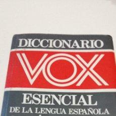 Diccionarios de segunda mano: G-9 DICCIONARIO VOX ESENCIAL SINONIMOS Y ANTONIMOS DE LA LENGUA ESPAÑOLA. Lote 209724583