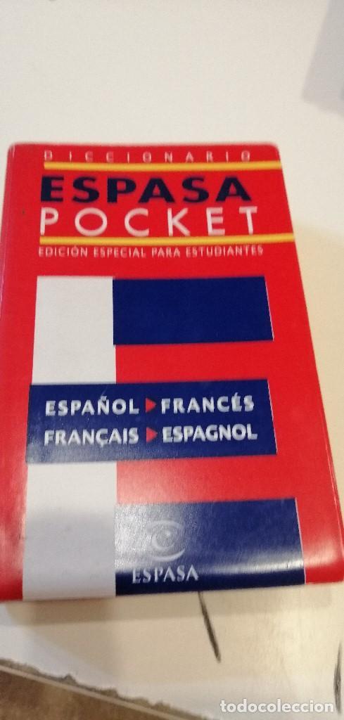 G-9 DICCIONARIO ESPAÑOL-FRANCES / FRANCES-ESPAÑOL - ESPASA POCKET - ESPECIAL ESTUDIANTES (Libros de Segunda Mano - Diccionarios)