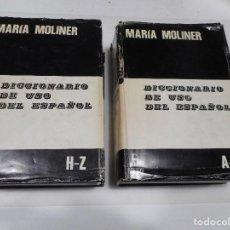 Diccionarios de segunda mano: MARIA MOLINER DICCIONARIO DE USO DEL ESPAÑOL Q1455A. Lote 209748808