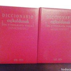 Diccionarios de segunda mano: DICCIONARIO EUSKALDUNAK. DE ETNOGRAFIA VASCA. ETOR OSTOA. VOLÚMENES 1 Y 2.. Lote 210052932