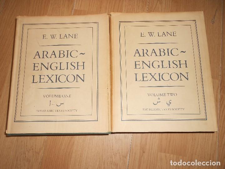ARABIC ENGLISH LEXICON / DICCIONARIO ARABE INGLES - E. W. LANE - 2 TOMOS - THE ISLAMIC TEXTS SOCIETY (Libros de Segunda Mano - Diccionarios)