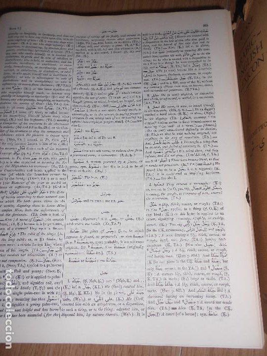 Diccionarios de segunda mano: ARABIC ENGLISH LEXICON / DICCIONARIO ARABE INGLES - E. W. LANE - 2 TOMOS - THE ISLAMIC TEXTS SOCIETY - Foto 2 - 210217551