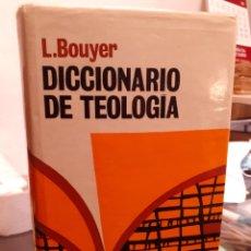 Diccionarios de segunda mano: DICCIONARIO DE TEOLOGÍA. Lote 210557882