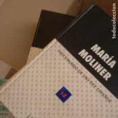 Livros em segunda mão: DICCIONARIO DE USO DEL ESPAÑOL, MARÍA MOLINER, 2 TOMOS, 1999, ED. GREDOS. Lote 210669755