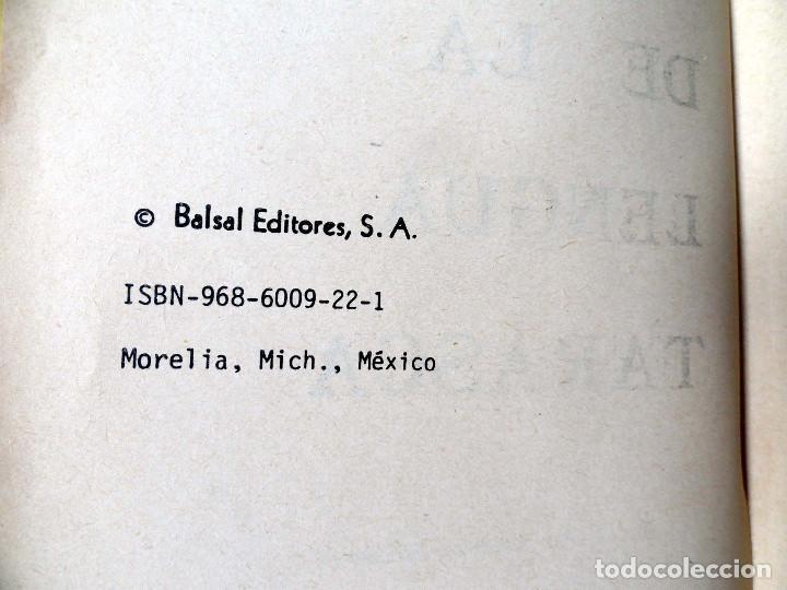 Diccionarios de segunda mano: DICCIONARIO DE LA LENGUA TARASCA, por MATURINO GILBERTI. México, 1983. - Foto 4 - 210828975