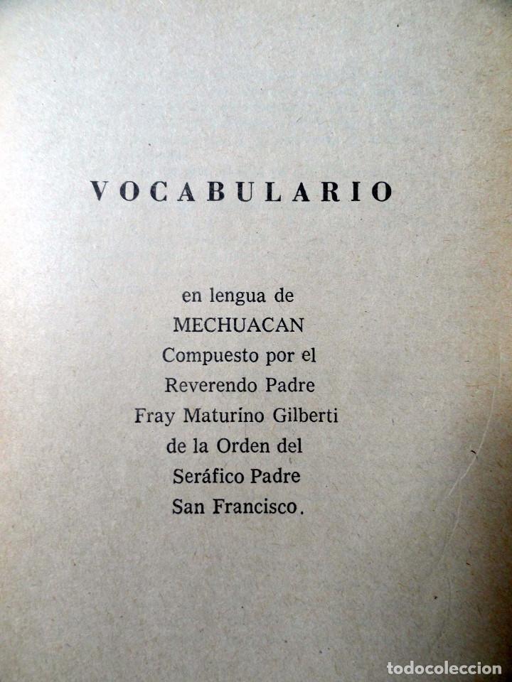 Diccionarios de segunda mano: DICCIONARIO DE LA LENGUA TARASCA, por MATURINO GILBERTI. México, 1983. - Foto 5 - 210828975