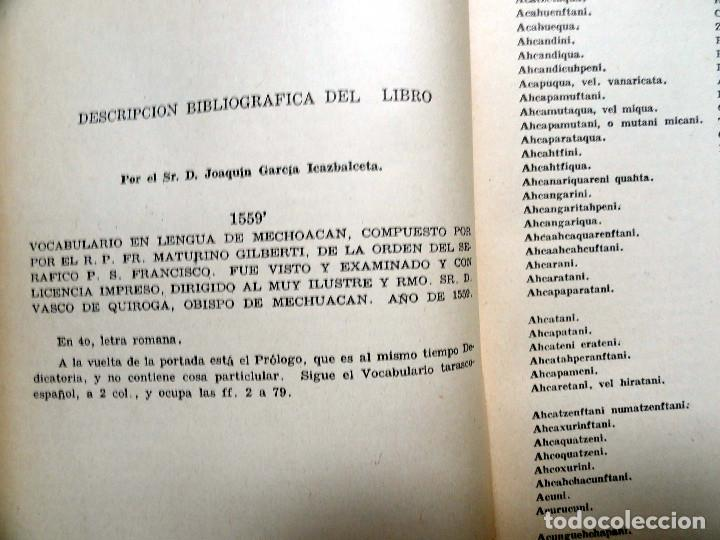 Diccionarios de segunda mano: DICCIONARIO DE LA LENGUA TARASCA, por MATURINO GILBERTI. México, 1983. - Foto 7 - 210828975
