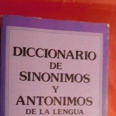 Diccionarios de segunda mano: DICCIONARIO DE SEUDONIMOS Y ANTONIMOS DE LA LENGUA ESPAÑOLA. Lote 211732956