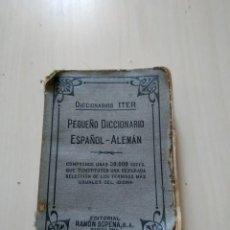 Diccionarios de segunda mano: PEQUEÑO DICCIONARIO ESPAÑOL-ALEMÁN. RAMÓN SOPENA. ITER. Lote 211946341