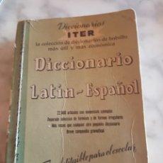 Diccionarios de segunda mano: PEQUEÑO DICCIONARIOS ITER LATÍN ESPAÑOL 1965 EDITORIAL RAMÓN SOPENA. Lote 213322733