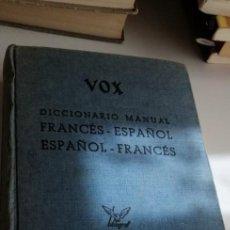 Diccionarios de segunda mano: G-20 LIBRO VOX DICCIONARIO MANUAL FRANCES ESPAÑOL 1966. Lote 213387850