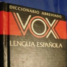 Diccionarios de segunda mano: DICCIONARIOS ABREVIADO VOX. Lote 213587362