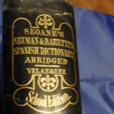 Diccionarios de segunda mano: DICCIONARIO, SEOANE'S NEUMAN BARRETIS, 1898. Lote 213588156