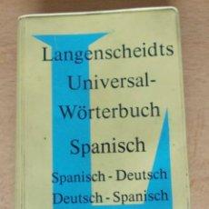 Diccionarios de segunda mano: DICCIONARIO SPANISCH-DEUTSCH AÑO 1966. Lote 213616245