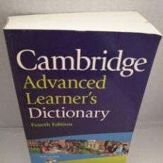 Diccionarios de segunda mano: CAMBRIDGE ADVANCED LEARNERS DICTIONARY (4TH EDITION 2013) INCLUYE CD-ROM. Lote 213870997
