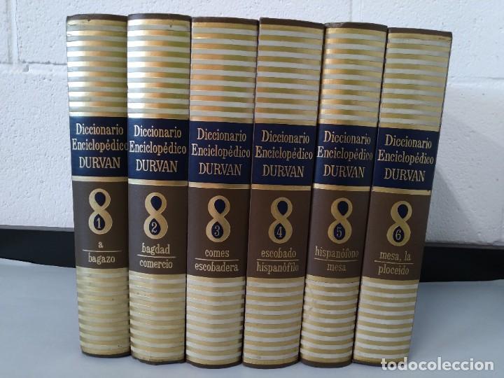 DICCIONARIO ENCICLOPEDICO DURVAN - 6 TOMOS - AÑO 1972 - ED. DURVAN S.A ... L1747 (Libros de Segunda Mano - Diccionarios)