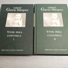 Diccionarios de segunda mano: VIVIR PARA CONTARLA / GABRIEL GARCÍA MÁRQUEZ / 2 LIBROS / RBA 2004. Lote 214162350