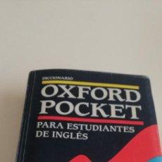 Livres d'occasion: G-27 LIBRO DICCIONARIO OXFORD POCKET PARA ESTUDIANTES DE INGLES. Lote 214274476
