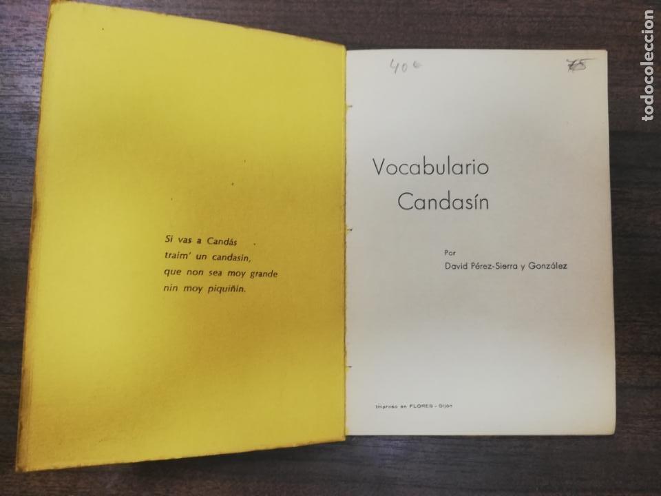 Diccionarios de segunda mano: VOCABULARIO CANDANSIN. DAVID PEREZ-SIERRA Y GONZALEZ. 1973. - Foto 2 - 214320102