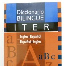 Diccionarios de segunda mano: DICCIONARIO BILINGÜE ITER - INGLÉS-ESPAÑOL, ESPAÑOL-INGLES - EDICIONES VISOR. Lote 215095498