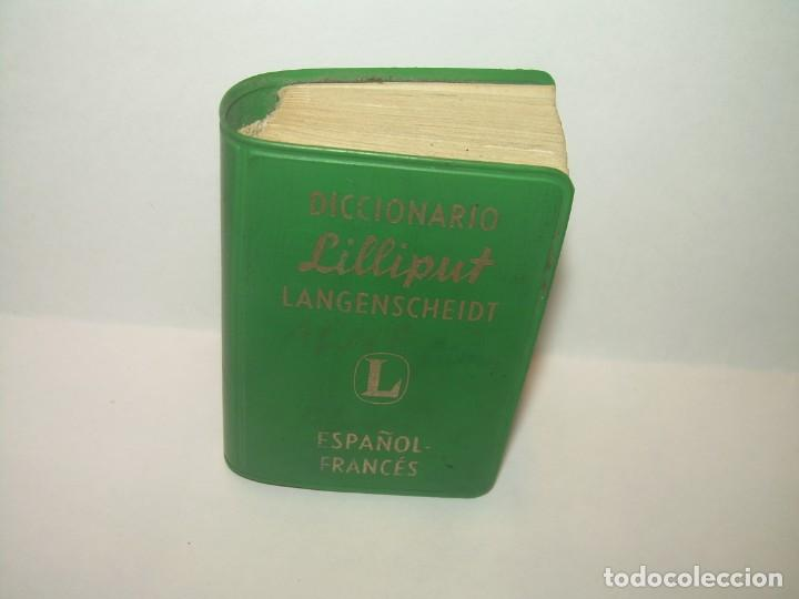 Diccionarios de segunda mano: MINUSCULO DICCIONARIO... LILLIPUT - ESPAÑOL-FRANCES...1960 - Foto 2 - 215637911
