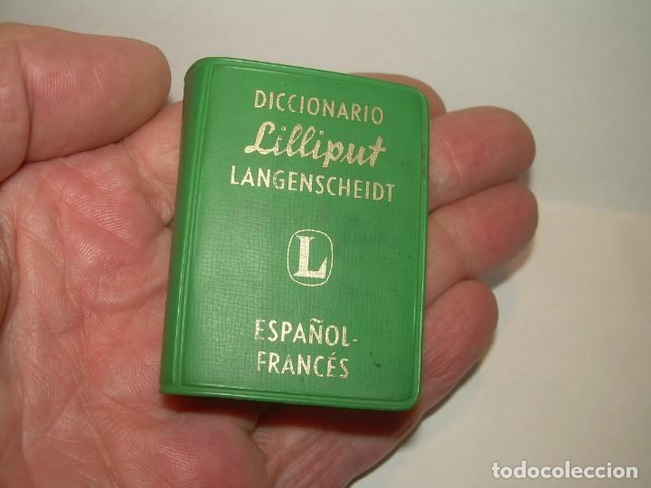 Diccionarios de segunda mano: MINUSCULO DICCIONARIO... LILLIPUT - ESPAÑOL-FRANCES...1960 - Foto 3 - 215637911