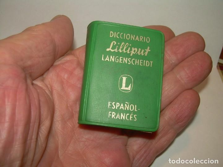 Diccionarios de segunda mano: MINUSCULO DICCIONARIO... LILLIPUT - ESPAÑOL-FRANCES...1960 - Foto 7 - 215637911